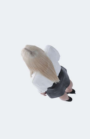 view on.successful business woman. photo in full growth.