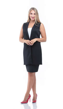 full-length portrait of Executive businesswoman