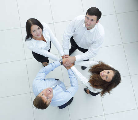team of like-minded people. view from the top Stock Photo