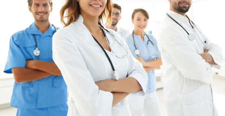bottom view.professional team of doctors medical center Stock Photo