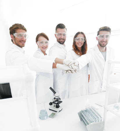 creative team of young scientists.