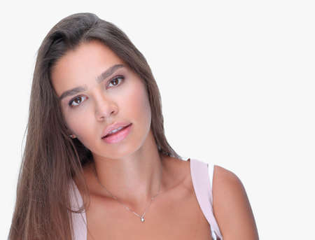 closeup. face of beautiful young woman Stock Photo