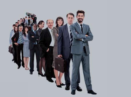 大規模なビジネスグループ 写真素材