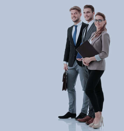 自信を持って探して成功したビジネス人々 のグループ