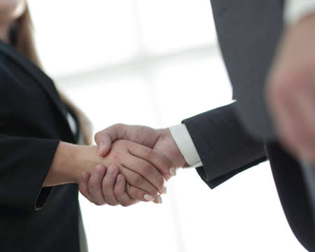Business handshake ,congratulations or Partnership concept.