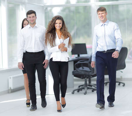 young entrepreneurs: group of young business people in office Stock Photo
