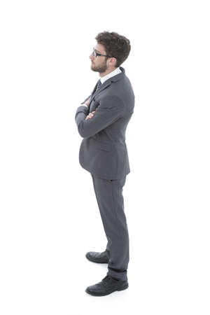constant: successful businessman looking forward. side view Stock Photo