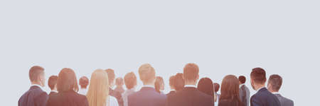 Large group of business people. Over white background Stok Fotoğraf