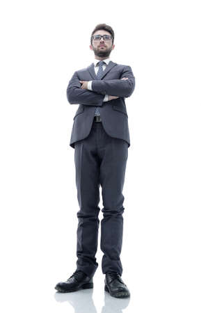 confident business man in suit and tie. Stock Photo