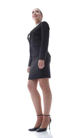 estate: friendly female representative of the company.