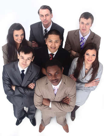group portrait of multiethnic business team Stock Photo