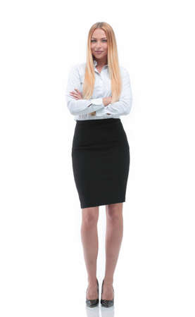 full growth. Executive business woman.