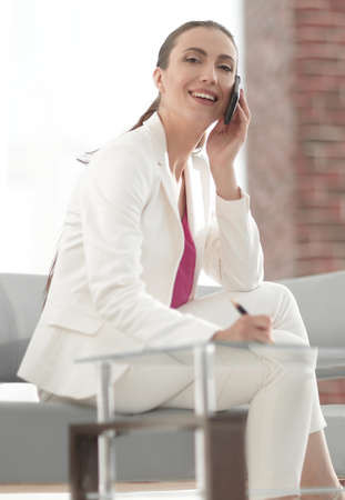 woman employee working in the office Stock Photo