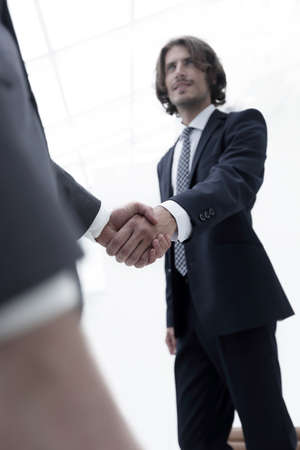 Success concept in business - handshake of partners Banque d'images