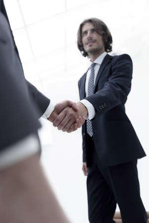 Success concept in business - handshake of partners 免版税图像
