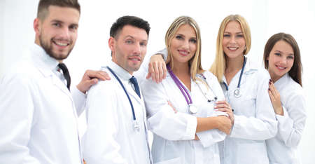 portrait of successful medical team Stock Photo