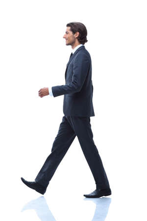 Profile of walking businessman, i