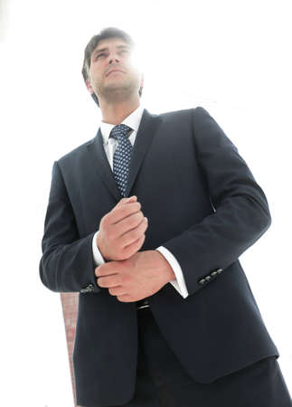 successful businessman looking forward Stock Photo