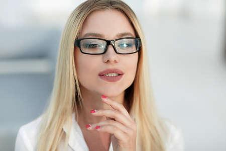 closeup portrait of successful business women Stock Photo