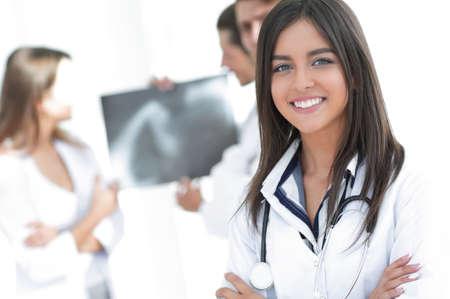 closeup.successful woman doctor Stock Photo