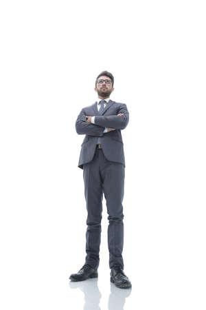 confident business man in suit and tie. Stock fotó
