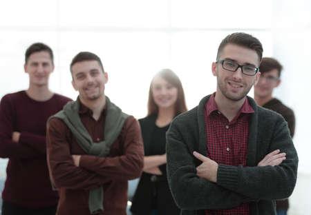closeup portrait of successful business team.