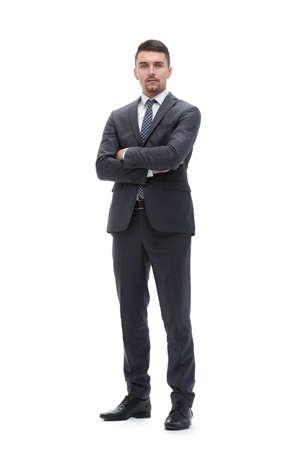 in full growth. confident businessman. Banco de Imagens
