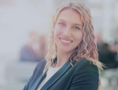 Portrait of happy smiling  business woman Banco de Imagens - 93013552