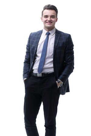 portrait in full growth. successful businessman