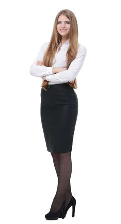 portrait of young business woman in a business suit Stock Photo