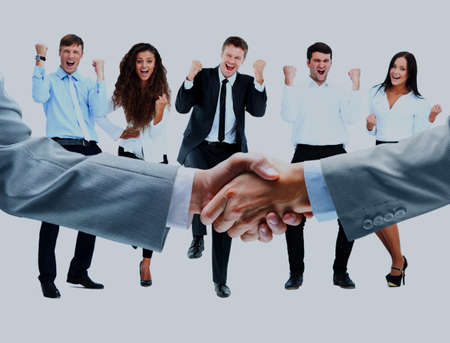 Business people shaking hands. Stockfoto