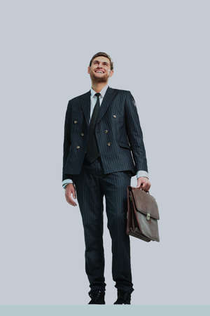businessman standing on vertex.