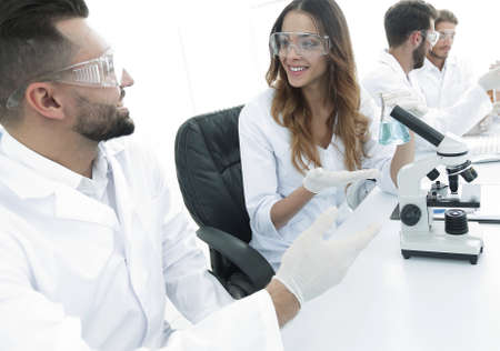 laboratory staff in the workplace