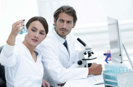 Team of Biologists Researchers Working in Laboratory Stock fotó