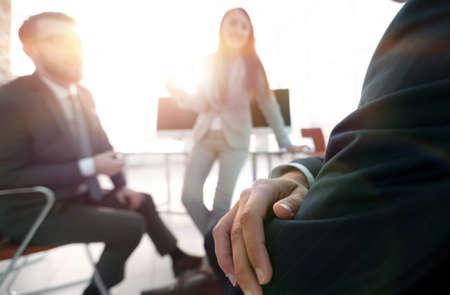 blurred image of business team during a break. Standard-Bild