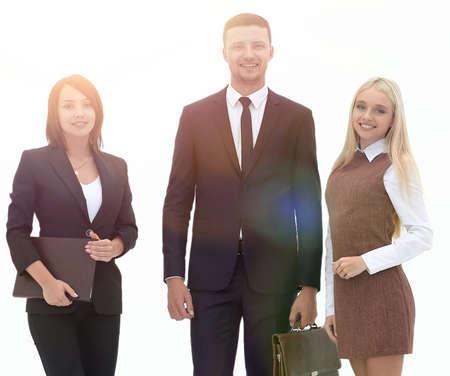 portrait in full growth. professional business team. Standard-Bild