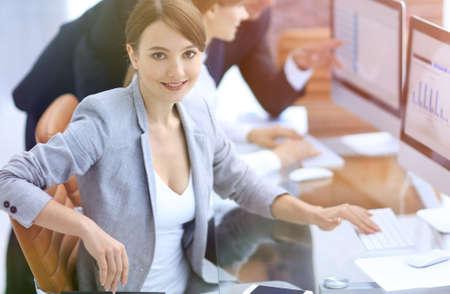 portrait of successful business women in the workplace Standard-Bild