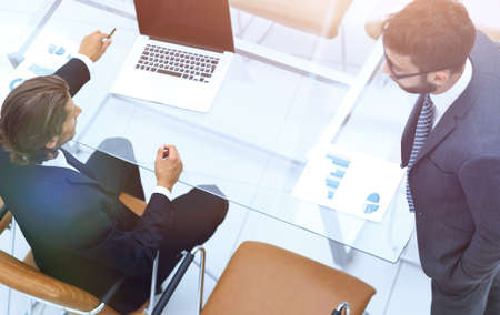 business colleagues in office Standard-Bild