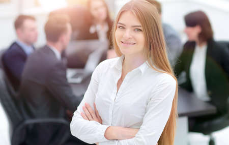 successful business woman in the office Standard-Bild