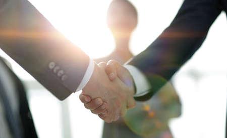 background image of handshake of business people . Stok Fotoğraf