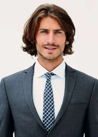 Stylish young man in suit and tie