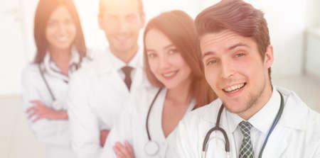 Portrait of confident happy group of doctors Stock Photo