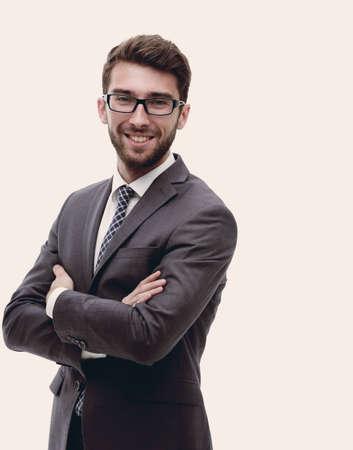 portret van een zelfverzekerde stijlvolle zakenman Stockfoto