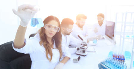 group of young scientists working in the laboratory. Standard-Bild