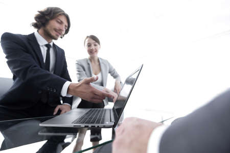 business team working at a Desk Stock Photo