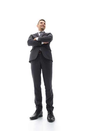 bottom view. confident businessman