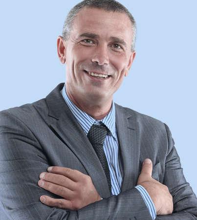 face of a successful businessman