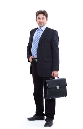 in full growth. portrait of a successful businessman Stok Fotoğraf