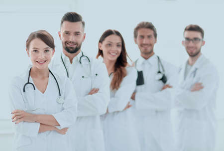 portrait of a successful group of doctors interns.