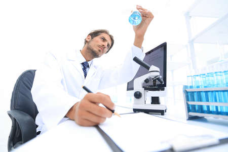 scientist analyzing an experiment in a laboratory